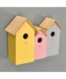 3 in1 Multi-coloured Bird Nesting Box by Kingfisher