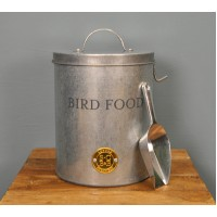 Galvanised Bird Feed Storage Tin Container by Burgon & Ball