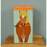 Horse Treat Feed Storage Tin Container by Burgon & Ball