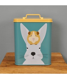 Arthur & Squeak Rabbit or Guinea Pig Pet Food Tin Storage Container by Burgon & Ball