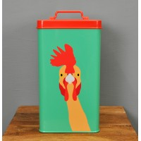 Plucky Chicken Food Tin Storage Container by Burgon & Ball
