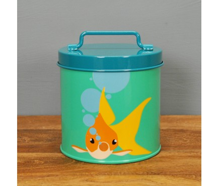 Bubbles Goldfish Food Tin Storage Container by Burgon & Ball