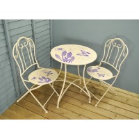 Butterfly Metal Garden Bistro Set for Two by Gardman