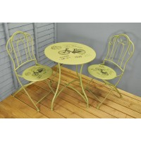 Bicycle Metal Garden Bistro Set for Two by Gardman