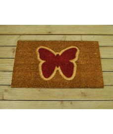 Pressed Butterfly Design Coir Doormat by Gardman