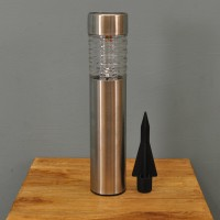 Solar Powered Bollard Light in Stainless Steel by Gardman