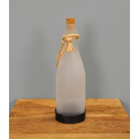 Frosted Bottle Hanging Lantern (Solar) by Gardman