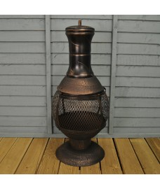 Opera Cast Iron Chimenea with Central Mesh by Gardeco