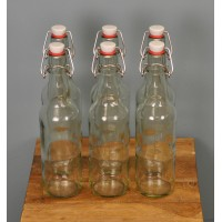 Clear Swing Top Beer Bottles (Set of 6) by Youngs