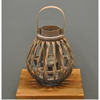 Grey Hampton Candle Holder Storm Lantern by Rustic Garden