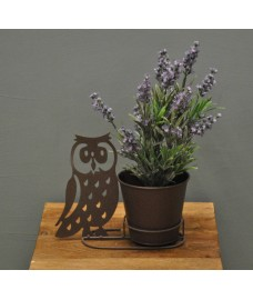 Metal Owl Silhouette Shaped Garden Planter by Rustic Garden