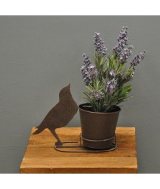 Metal Bird Silhouette Shaped Garden Planter by Rustic Garden
