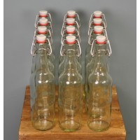 Clear Swing Top Beer Bottles (Set of 12) by Youngs