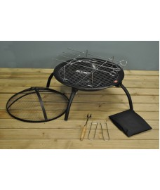 Lucio Portable BBQ Firepit with Rotisserie by Gardeco