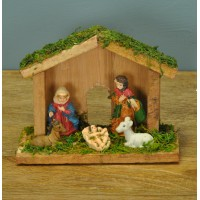 Mini Traditional Wooden Christmas Nativity Scene