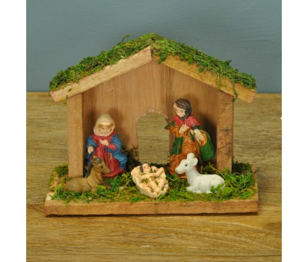 Mini Traditional Wooden Christmas Nativity Scene by Premier