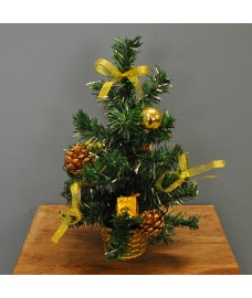 Christmas 30cm Gold Dressed Table Top Tree by Premier