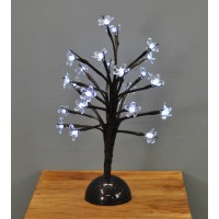35cm White Blossom Tree 24 LED (Battery) by Premier