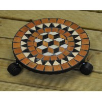 Mosaic Plant Caddy Pot Mover (32cm) by Kingfisher