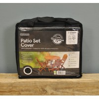 2-4 Seater Round Patio Set Cover (Premium) in Black by Gardman