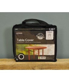 4-6 Seater Round Table Cover (Premium) In Black by Gardman