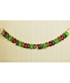 Christmas Stocking Fabric Garland Xmas Advent Calendar (160cm) by Premier