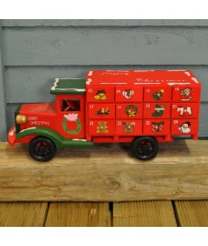 Wooden Truck Shaped Advent Calendar (36cm) by Premier