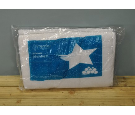 Artificial Fake Snow Frosty White Blanket (2.5 x 1.5m) by Premier