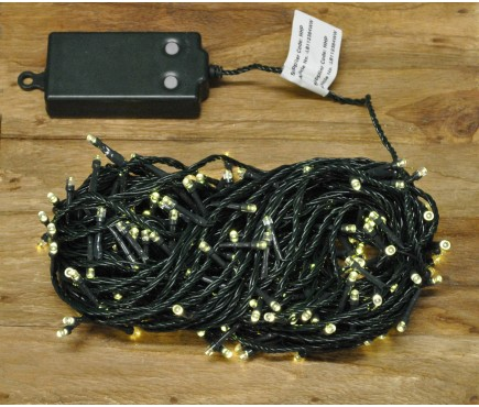 200 LED Warm White Supabright String Lights (Battery) by Premier