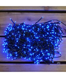 720 Blue LED Christmas Supabrights Cluster Lights (Mains) by Premier