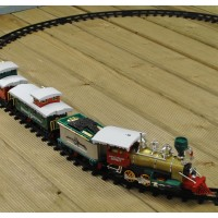 Festive Santa's Village Express 20 Piece Train Set with Headlight (Battery) by Premier