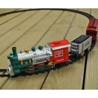 Christmas Classic 23 Piece Train Set with Headlight (Battery) by Premier