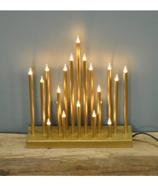 Gold Christmas Star Candle Bridge (Mains Powered) by Premier