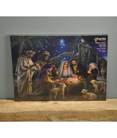 Three Kings Christmas Scene Canvas with LEDs by Premier