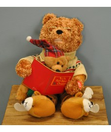 Animated Storytime Christmas Bear Decoration by Premier