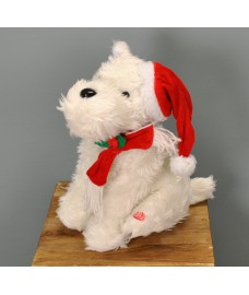 Animated Musical Christmas Terrier Decoration by Premier