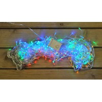 360 Multi-Coloured LED Christmas Supabrights Snowing Icicle Lights by Premier