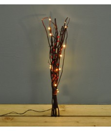 5 Twig Light 16 Warm White LEDs with Berries (Battery Powered) by Premier