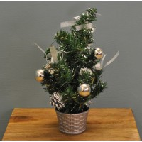 Christmas 30cm Silver Dressed Table Top Tree by Premier