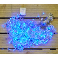 360 Blue LED Christmas Supabrights Snowing Icicle Lights by Premier