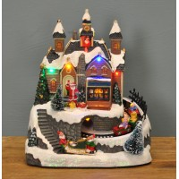 Musical Animated Christmas Village Scene Ornament by Premier
