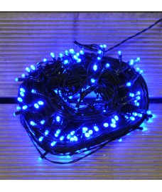 200 LED Blue Supabright String Lights (Mains) by Premier