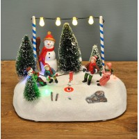 Light Up Christmas Winter Scene Decoration with LED's (Battery Operated) by Premier