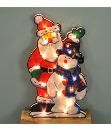 Santa and Snowman Silhouette Light (Mains) by Premier
