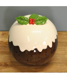 Christmas Pudding Cookie & Sweet Jar by Premier