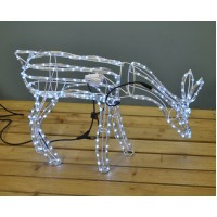 Animated Reindeer Free Standing Christmas Rope Light (95cm) by Premier