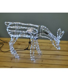 Animated Reindeer Free Standing Rope Light (95cm) by Premier