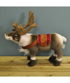 Plush Christmas Standing Reindeer Decoration (40cm) by Premier
