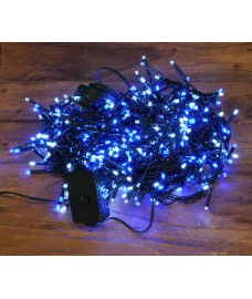480 LED Blue & White Cluster Supabright String Lights (Mains) by Premier