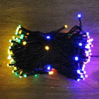 200 LED Multi-Coloured Frosted Supabright String Lights (Mains) by Premier